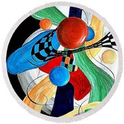Abstract 525-11-13 Marucii Round Beach Towel