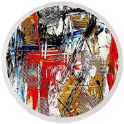 Abstract 526-11-13 Marucii Round Beach Towel