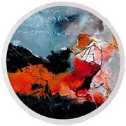 Abstract 553101 Round Beach Towel