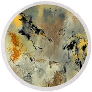 Abstract 553140 Round Beach Towel