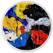 Abstract 55315080 Round Beach Towel