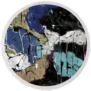 Abstract 553150802 Round Beach Towel