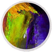 Abstract 6325 Round Beach Towel