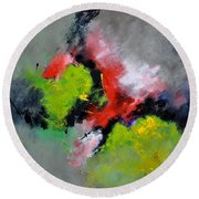 Abstract 6631201 Round Beach Towel