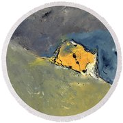 Abstract 6631702 Round Beach Towel