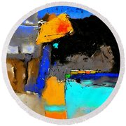Abstract 664150 Round Beach Towel