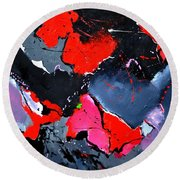Abstract 673121 Round Beach Towel