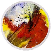 Abstract 693154 Round Beach Towel