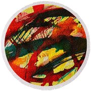Abstract 73 Round Beach Towel