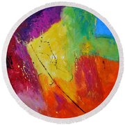 Abstract 77411112 Round Beach Towel