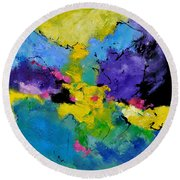 Abstract 7741301 Round Beach Towel