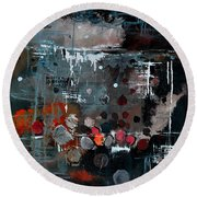 Abstract 77413022 Round Beach Towel