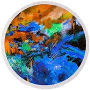 Abstract 783180 Round Beach Towel