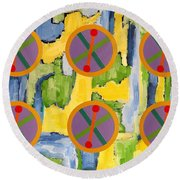 Abstract 82 Round Beach Towel