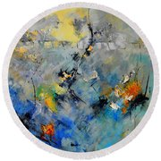 Abstract 88212082 Round Beach Towel
