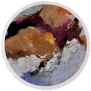 Abstract 8831901 Round Beach Towel