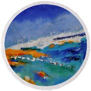 Abstract 88319091 Round Beach Towel