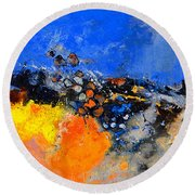 Abstract 88411133 Round Beach Towel