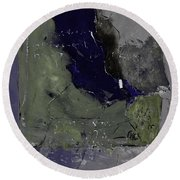 Abstract 88457412 Round Beach Towel