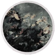 Abstract 9712072 Round Beach Towel
