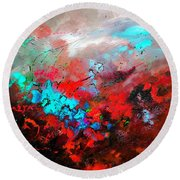 Abstract 975231 Round Beach Towel