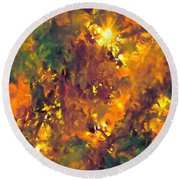 Abstract 98 Round Beach Towel