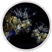Abstract A07 Round Beach Towel