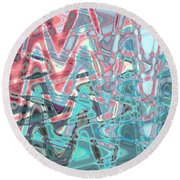 Abstract Approach Iv Round Beach Towel