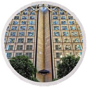 Abstract Architecture Round Beach Towel