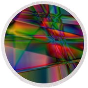 Lineage - Square Abstract Print Round Beach Towel