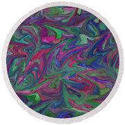 Juncture - Abstract Art Round Beach Towel
