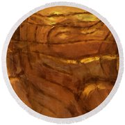 Behold - Abstract Art Round Beach Towel