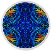 Abstract Art - Center Point - By Sharon Cummings Round Beach Towel