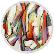 Abstract Art Forty-six Round Beach Towel