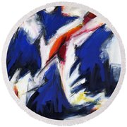 Abstract Art Forty-two Round Beach Towel