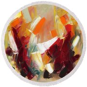Abstract Art Sixty Round Beach Towel