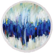 Abstract Art Sixty-two Round Beach Towel