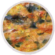 Abstract Autumn 1 Round Beach Towel
