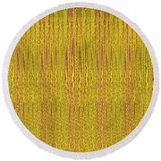 Abstract Autumn Forest Round Beach Towel