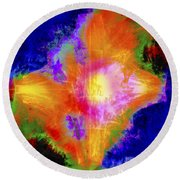 Abstract Series B1 Round Beach Towel
