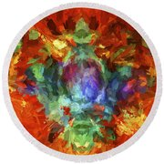 Abstract Series B5 Round Beach Towel