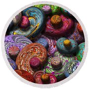Abstract - Beans Round Beach Towel