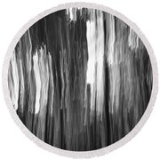 Abstract Black And White Composition Round Beach Towel