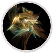 Abstract Bloom  Round Beach Towel
