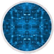 abstract blue spherical tile circuit background 01 digital