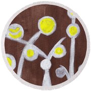 Abstract Bobbles Round Beach Towel