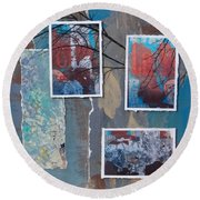 Abstract Branch Collage Trio Round Beach Towel