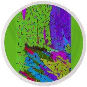 Abstract. Bring In The Noise Round Beach Towel