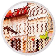 Abstract Buildings Round Beach Towel