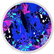 Abstract Butterfly #2 Round Beach Towel
